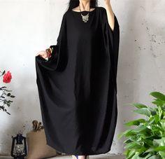 BELLEFILLES Plus Size Extravagant Kaftan Dress, Oversize Long Dress, Bust>140CM: Amazon Fashion