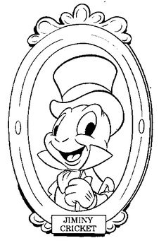 Pinocchio Color Page Disney Coloring Pages Plate Sheet Printable