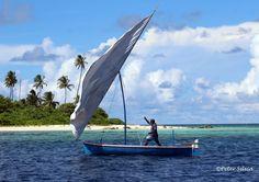 Fisherman in traditional Maldivian boat dhoni #Maldives #culture #sailing #fishing #ocean