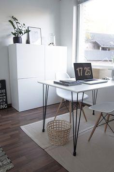 Home office, scandinavian, monochrome home, scandinavian interior, työhuone, työpöytä  Kotona ja kaukomailla: sisustus