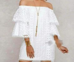 2020 Women Trends in: White dress Cute Formal Dresses, Pretty Dresses, Casual Dresses, Short Dresses, White Fashion, European Fashion, Lace Dress, White Dress, African Traditional Dresses