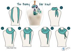 The Bunny Ear knot! Scarf Universe, scarf tying