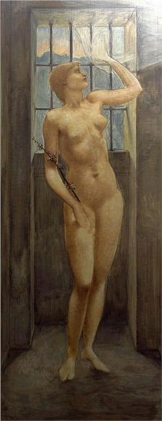 Hope in Prison by artist Edward Coley Burne-Jones. hand-painted museum quality oil painting reproduction on canvas. William Morris, John Everett Millais, Prison Art, Edward Burne Jones, National Gallery, John William Waterhouse, Renaissance Artists, Canvas Online, Thing 1