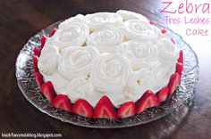 Zebra Tres Leches Cake and My First Link Party!