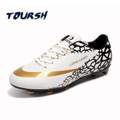 9a49312726bb TOURSH Size 33-44 Men Boy Kids Soccer Cleats Long Spiker Football Shoes  Firm Ground