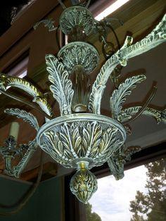 Shabby chic brass chandelier