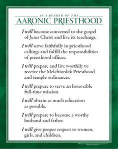 Purposes of the Aaronic Priesthood