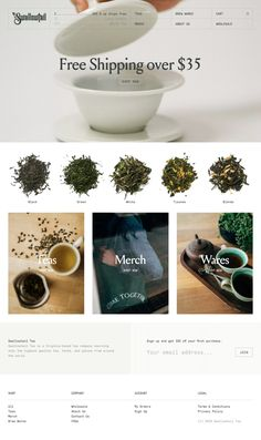 #WebDesign Swallowtail Tea