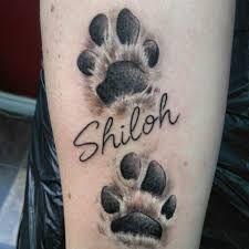 Afbeeldingsresultaat voor impronta zampa cane tatuaggio