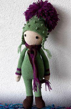 Cardo Tim flor made by Marcia C - crochet pattern by Zabbez