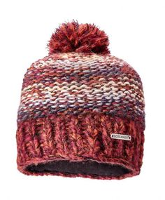 Screamer Women s Chellene Chunky Knit Bobble Hat - Marsala Oyster Denim cf07609d98