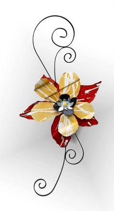 Bloom Again Metal Flower & Scroll by Richard by BloomAgainMetalArt, $100.00