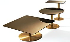 Tom Dixon: flash square coffee and side tables