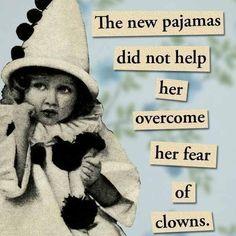 She Was Afraid of Clowns  Magnet by franticmeerkat on Etsy