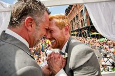 These men got married on a float during  Toronto's Gay Pride Parade. Regardless of how you feel about gay rights, their joy is palpable and beautiful, and the humanity is humbling.