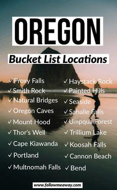 The Ultimate Oregon Road Trip Itinerary You Should Steal Oregon Bucket List Locations Oregon Vacation, Oregon Road Trip, Oregon Travel, Travel Usa, Road Trips, Travel Portland, Seaside Oregon, Portland Oregon, Oregon Coast