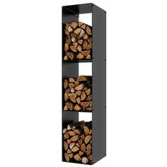 Rais Firewood Rack 3 Black Log Store - 1460mm