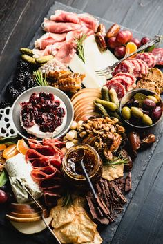 Gluten-Free Charcuterie Board – Steph Gaudreau - Wow everyone at your next party with the best ever Gluten-Free Charcuterie Board! Get my template a -Ultimate Gluten-Free Charcuterie Board – Steph Gaudreau - Wow everyone at your. Charcuterie Recipes, Charcuterie Platter, Charcuterie And Cheese Board, Cheese Boards, Cheese Board Display, Charcuterie Spread, Antipasto Platter, Party Food Platters, Cheese Platters