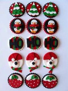 Winter Christmas toppers by CakesbyAngela on Etsy, $52.00
