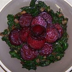 Roasted Beets and Sauteed Beet Greens Recipe - Allrecipes.com Beet ...