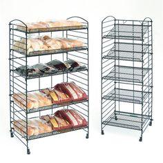 5 Shelf Bakery Fold Up Racks