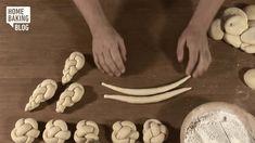 Knopf flechten / Braiding Knob on Vimeo Challah Bread Recipes, Brioche Recipe, Bread Shaping, Bread Starter, Bread Art, Braided Bread, Creative Food Art, Jewish Recipes, Home Baking