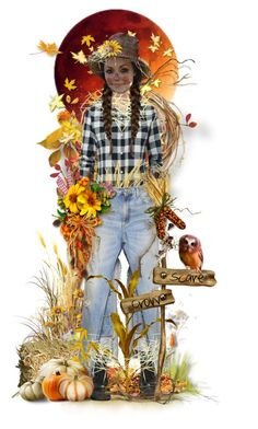 """Scarecrow!"" by tracireuer ❤ liked on Polyvore featuring art"