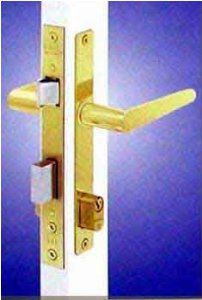 Single Doors Thick Cylinder Locks Inch Wide Brass