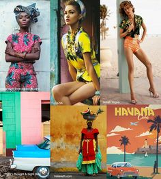 With all things Cuba style tipped to be a hot ticket in women's wear for  S/S 17 we've been mood-boarding up some inspiration today.  More cuban design in the woman collection