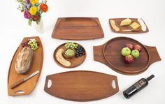 Jens Quistgaard's serving platters and boards.