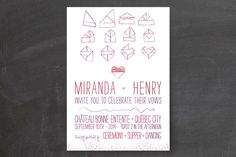 Origami Heart Wedding Invitations by Cycling Pear Design at minted.com
