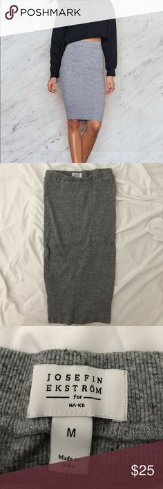 ✨Josefin Ekström for NA-KD Rib-Knit Midi Skirt Only worn a few times. No trades. Offers welcome! Skirts Midi