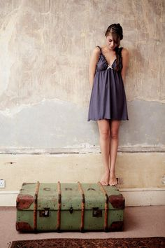 Lingerie Nightgown - Japonica Organic cotton and Soy sleepwear on Etsy, $69.00
