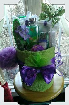 Towel Spa Gift Basket made by Norma's Unique Gift Baskets $45.