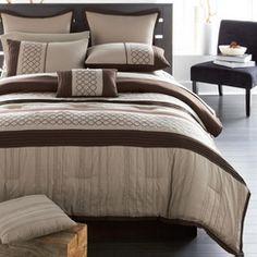 LIFESTYLE LINENS Huntington 12-Piece Comforter Set