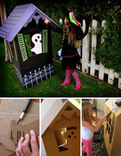 DIY Halloween Fun-House Tutorial. love it!! definitely doing for the halloween party!