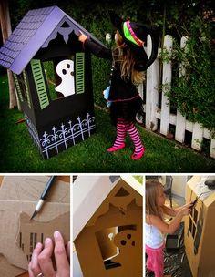 ✿ڿڰۣ DIY   Cardboard Haunted House     #halloween #hauntedhouse #diy #craft #decorate