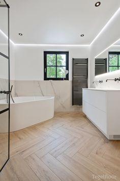 Bathroom Inspiration, New Homes, Building A House, House Interior, Corner Bathtub, Bathroom Decor, Home, Interior, Home Decor