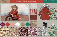 GIRL'S FALL 13  ~ color & pattern by Heather Sandwall, via Behance