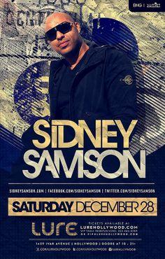 Sidney Samsom @ #Lure #Nightclub #Hollywood #LA #LosAngeles #NYEweekend #edm  TICKETS: http://edm-nye.wantickets.com/Events/143920/LURESDAY-Presents-Sidney-Samson/