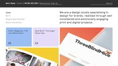Well Made Studio combines pastel color palette with clearly defined cards for content pieces laid out in an organised grid. Pastel Colour Palette, Pastel Colors, Graphic Design Trends, Grid Design, Email Design, Design Agency, Creative Design, Cool Designs, Digital