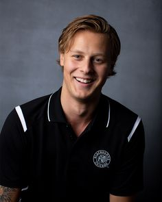 Adam Boqvist is wearing the Antigua Merit Polo ($68). Find this item today at the Blackhawks Store or call 312-759-0079 to order. Blackhawks Store, Chicago Blackhawks Players, Blackhawks Hockey, Abs, Polo, Future, Sports, Antigua, Hs Sports