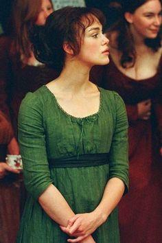 keira knightley elizabeth bennet green dress