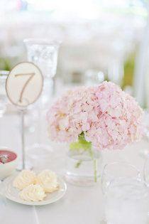 soft pink hydrangeas / mason jar