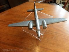 This model of a Wellington Bomber is an unusual piece of WWII trench art made from scrap aircraft aluminium. Wellington Bomber, Wwii, Trench, Aviation, Old Things, Antiques, Gifts, Beautiful, Art