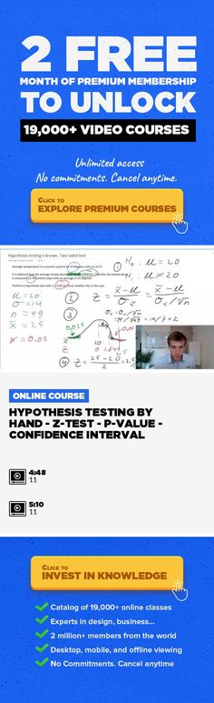 Hypothesis Testing by hand - Z-test - P-value - Confidence Interval Entrepreneurship, Technology, Statistics, Data Science, Normal Distribution, P-Value, Two-sided #onlinecourses #onlineclassesfunny #CoursesBudget   Also really important in this video a lot of information about the P-value. Important to understand also for the later SPSS videos :) Also ensure you watched the videos about the Z-tes...