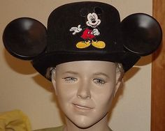 Mickey Mouse  Disney World Parks Top Hat Jacobson RARE RETIRED