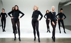 Models dont Talk - Olivier Saillard Performance in New York Milk Studio September 2014 With Violeta Sachez Claudia Huidobro Anne Rohart Amalia Varelli Charlotte Flossaut Axelle Doue
