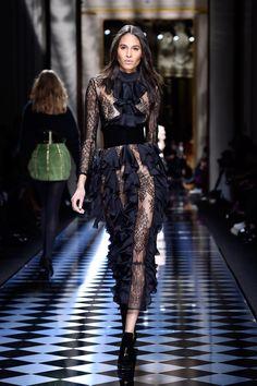 See Kendall and Gigi Walk the Balmain Runway —If You Can Tell Them Apart