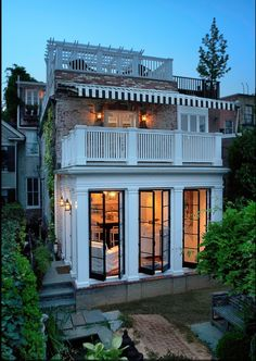 floor to ceiling Hope's Windows to take full advantage of its small but beautiful garden and patio. sweet use of space